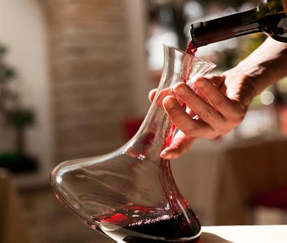 Greek Wines - decanter with red wine